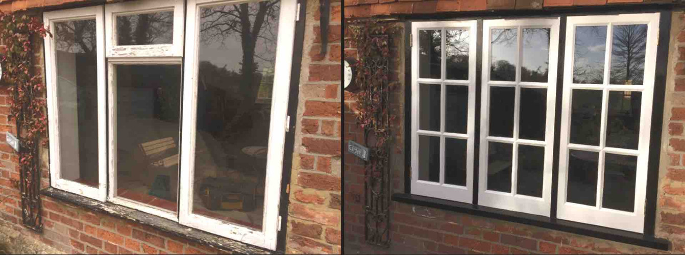 Before & After photos of a New Casment Window