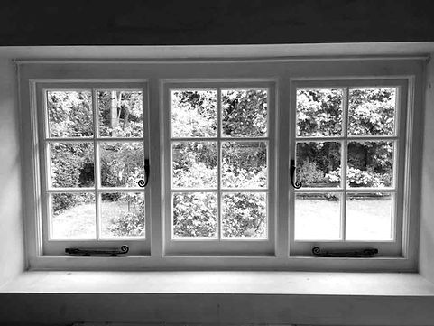 Newly installed wooden casement window by Forster Timber Windows