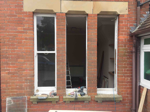 Removal of existing sashes for repair