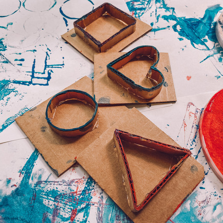 ~Sellos de Cartón~ Cardboard Shape Stamps