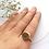 Thumbnail: Brass disk ring
