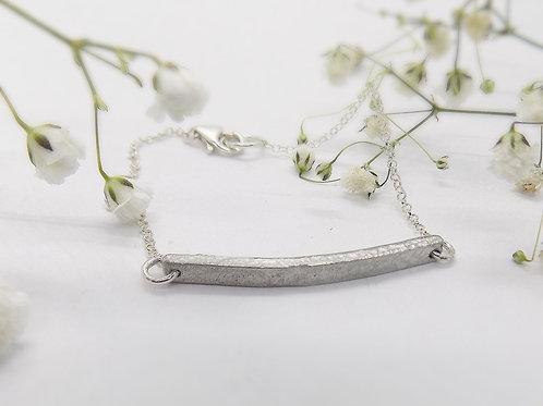 Pewter bar bracelet