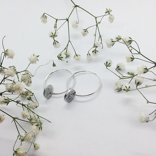 Tinymoon  & silver hoops