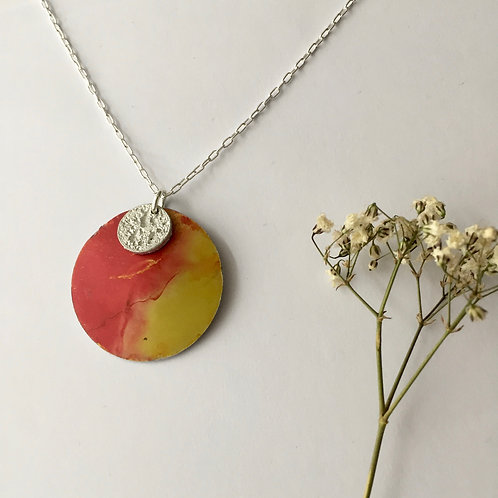 Large sun and Tinymoon necklace