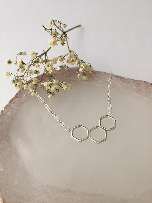 Trio hex necklace