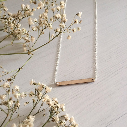 Plywood necklace