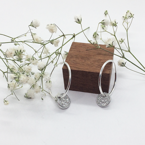 Silver hoops with Tinymoon's