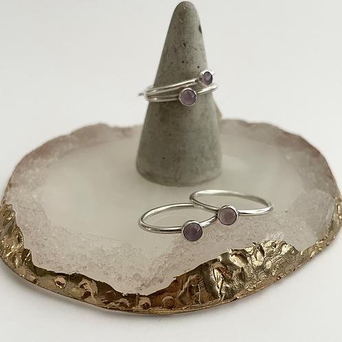 Lavender amethyst rings