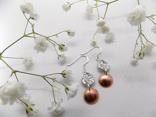 Tinymoon & copper earrings