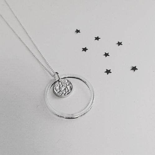 Tinymoon & acrylic ring necklace