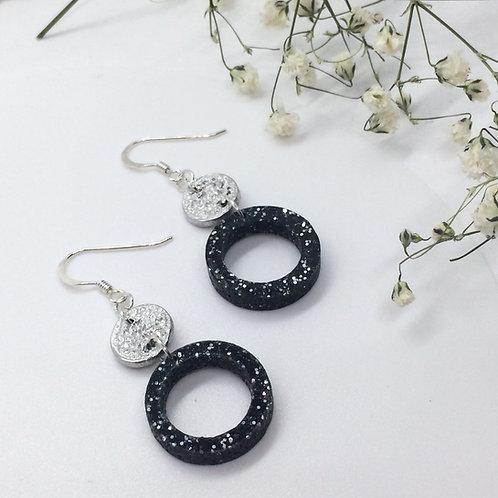 Tinymoon & Starry Night hooped earrings