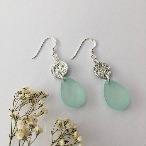 Tinymoon & tear drop earrings