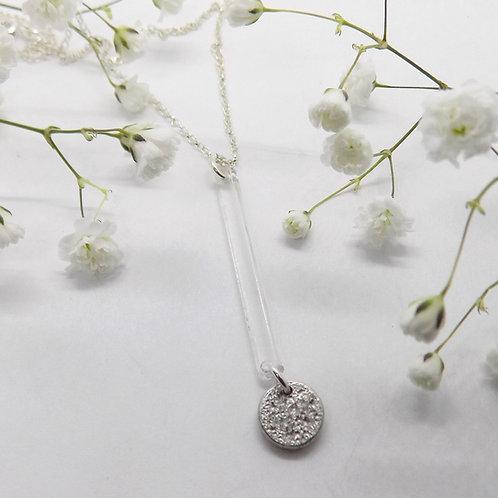 Acrylic bar & Tinymoon necklace
