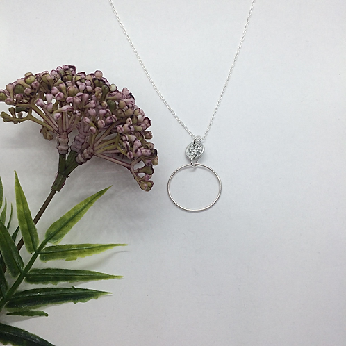 Tinymoon and Hooped necklace