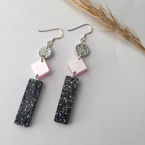 Shimmery long earrings