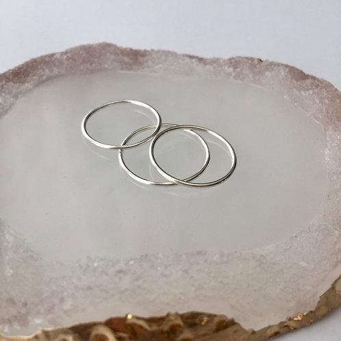 Thin silver ring