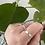 Thumbnail: Wide hammered band ring