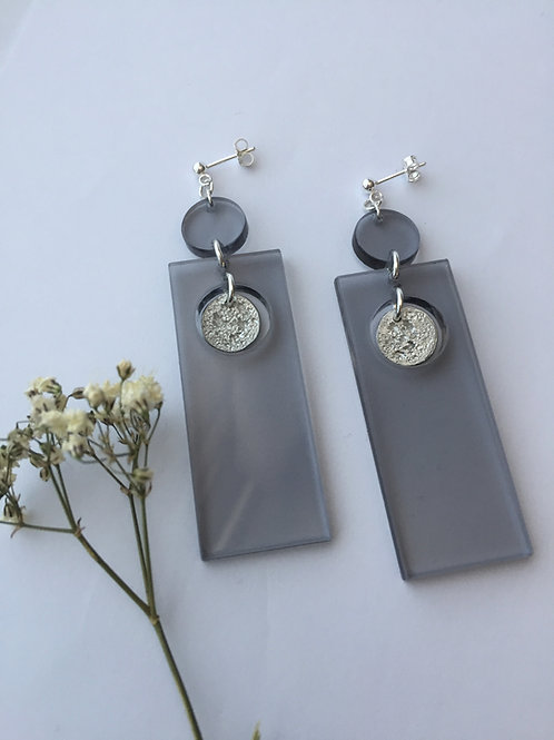 Capella grey earrings