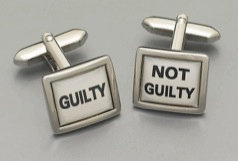 Guilty Not Guilty Cuff Links