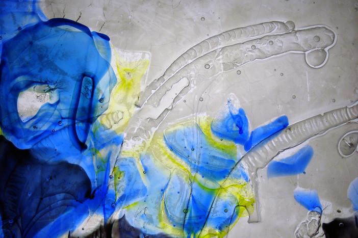 Details of Glass wall sculpture