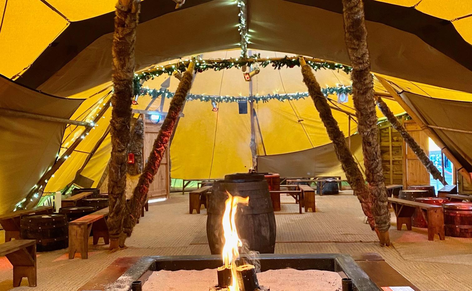 tipi teepee tent pub hospitality firepit