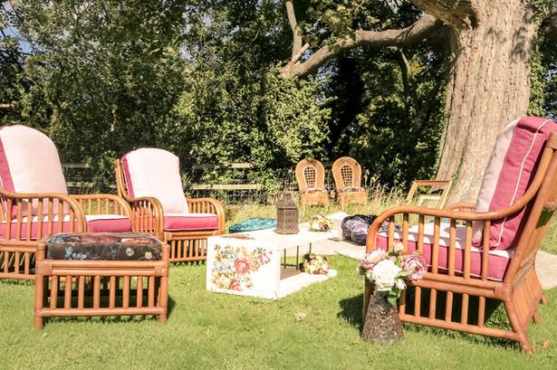 wicker chair outdoor tipi wedding