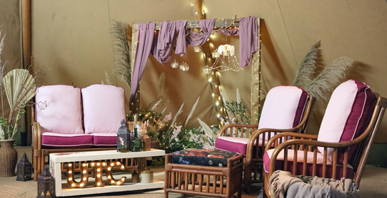 Boho rustic wedding tipi