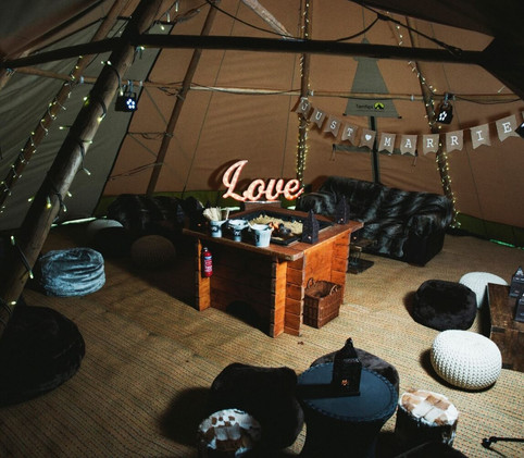 chillout tipi package fire pit furniture
