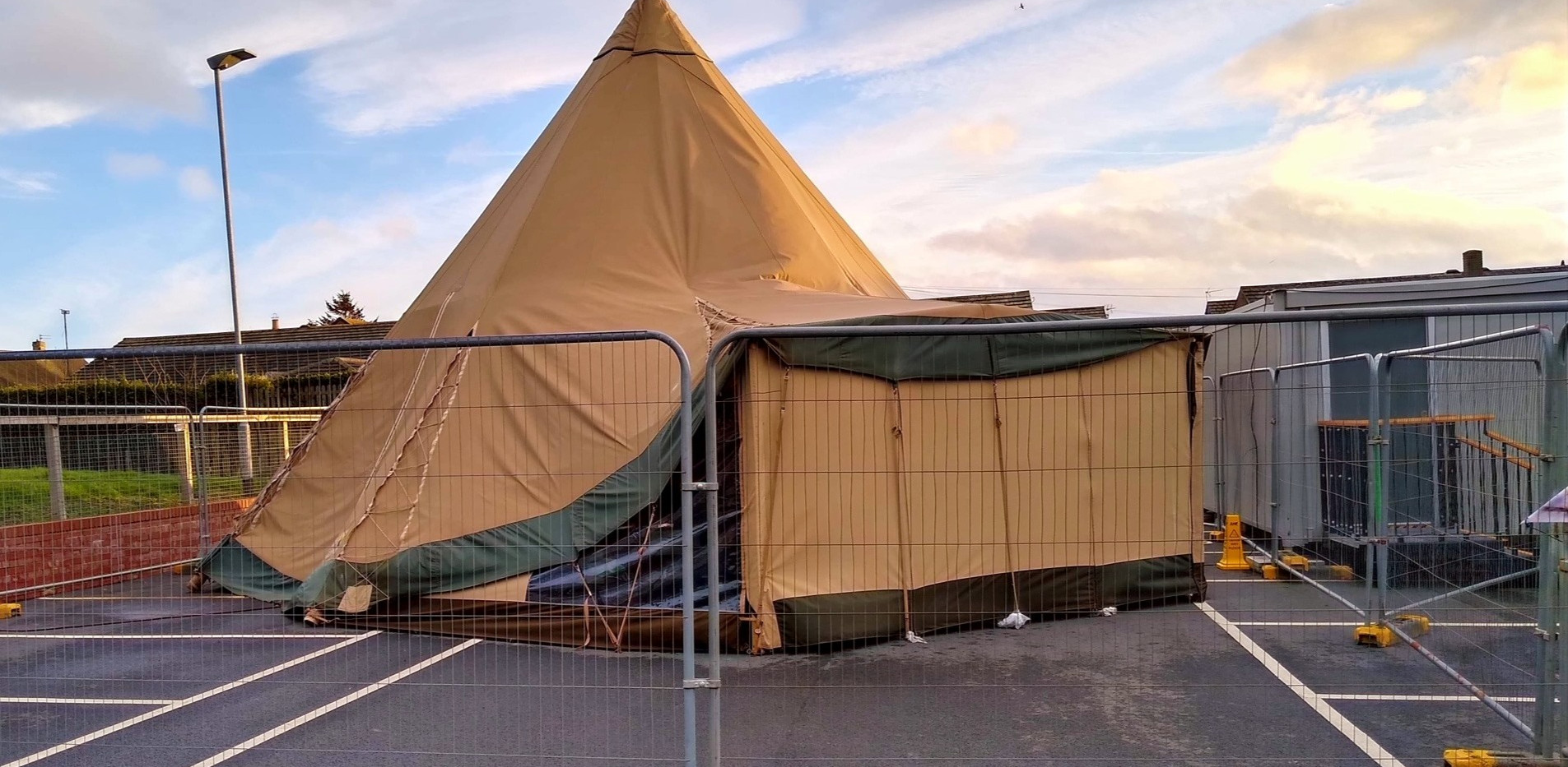 tipi teepee temporary structure Covid19