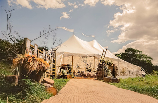 Sailcloth Marquee hire wedding