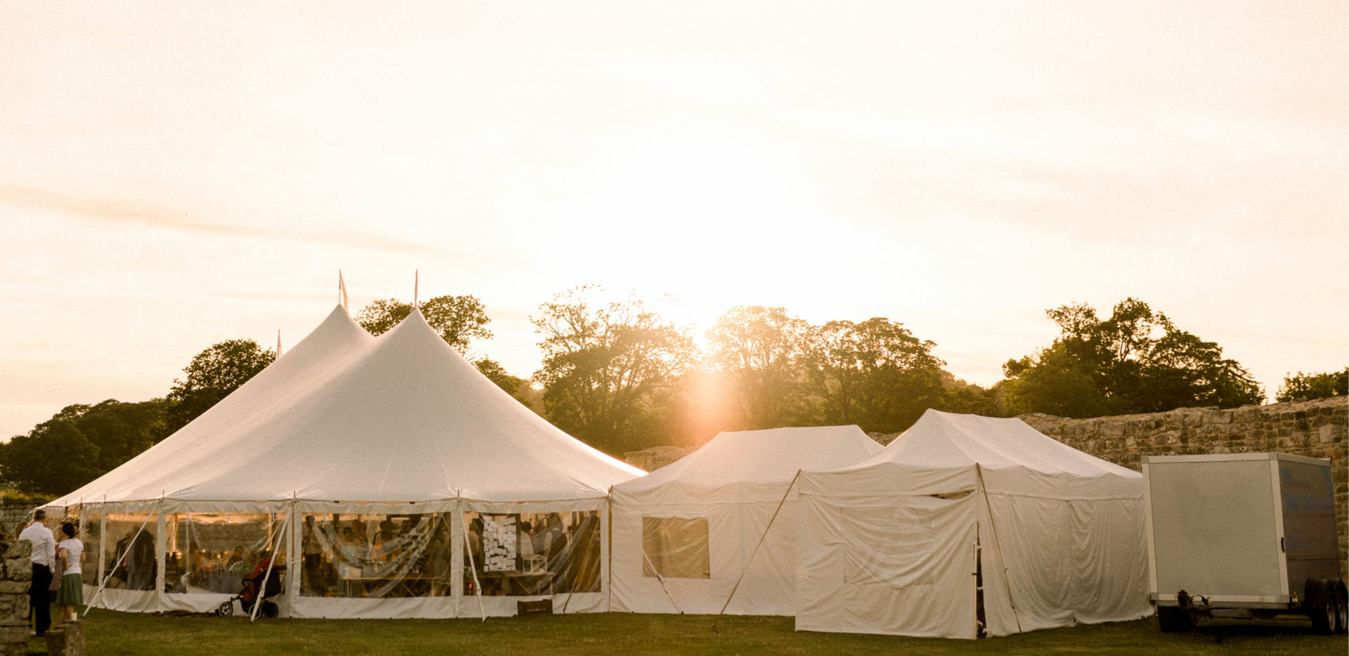 Sailcloth Marquee wedding with catering