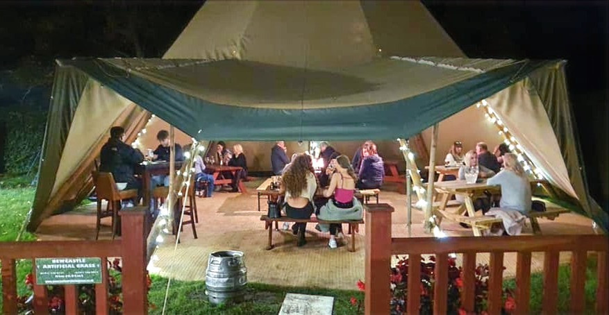 Tipi hire hospitality pubs outdoor space