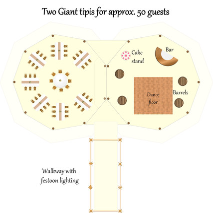 Two giant tipis for 50 guests.jpg