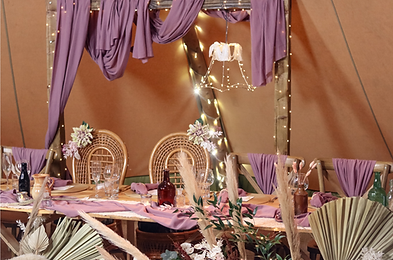 Outdoor Tipi rustic traditional wedding