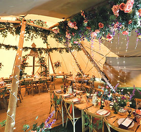 Tipi flower decoration outdoor wedding i