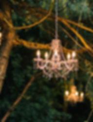 outdoor hanging chandelier tipi marquee