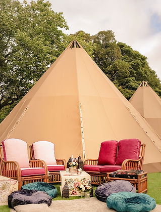 tipi wicker furniture outdoor boho weddi