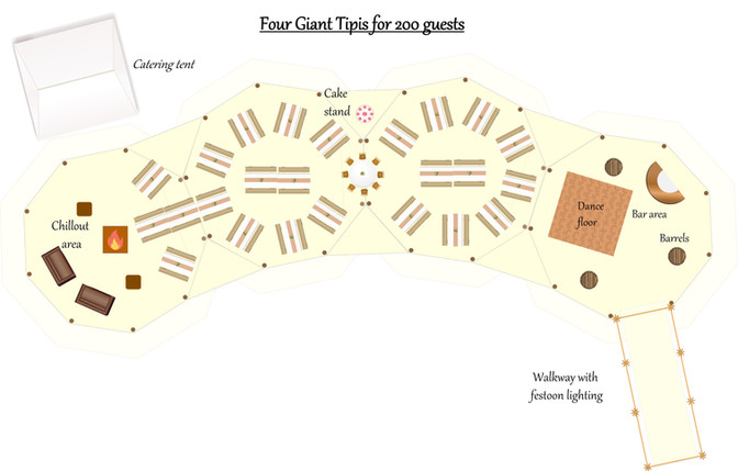 Four giant tipis for 200 guests.jpg