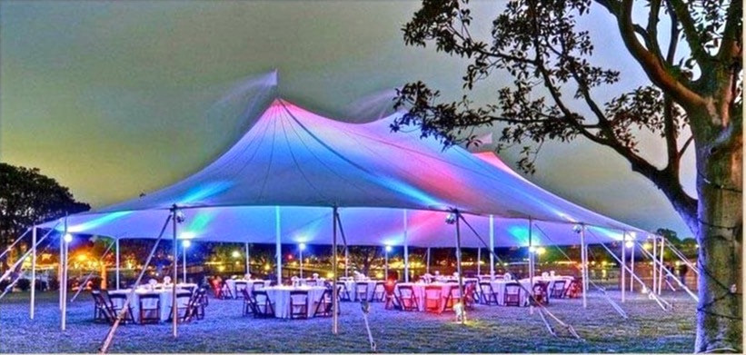 Sailcloth Marquee Rustic wedding hire