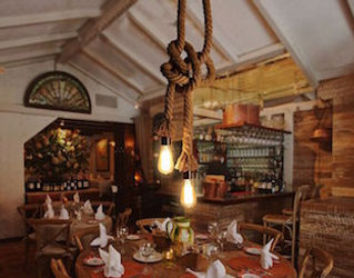 rope and vintage double light chandelier