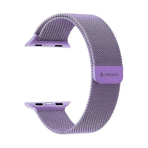 Ремешок Band Mesh для Apple Watch 42/44 mm, нержавеющая сталь Лавандовый