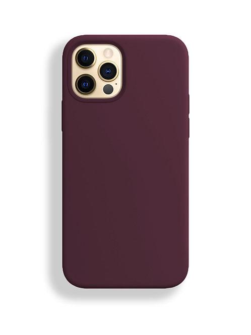 """Бургунди"" чехол силиконовый на айфон на Apple iPhone 12/12 PRO MAX"