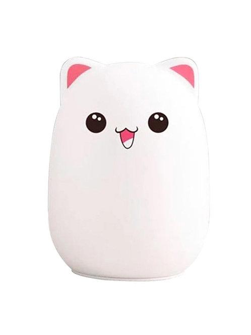 Ночник силиконовый Котик (розовый)