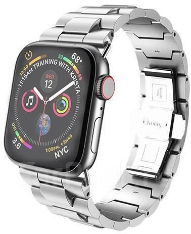 Металлический ремешок HOCO Grand Silver для Apple Watch 42/44