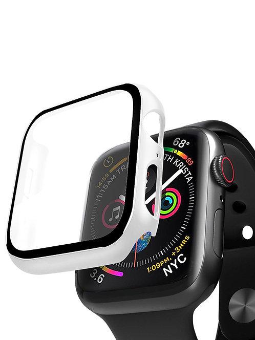 Кейс со стеклом для Apple Watch 4/5 series белый, 44 мм, Deppa