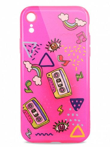 Чехол для iPhone XR Pink mood силикон (Music)