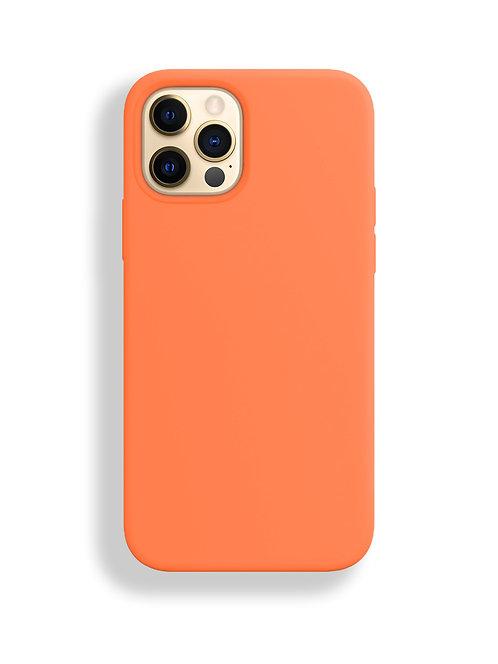"""""""Оранжевый"""" чехол силиконовый на айфон на Apple iPhone 12/12 PRO MAX"""