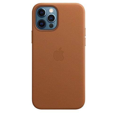 Кожаный чехол MagSafe для iPhone 12 и iPhone 12 Pro, золотисто-коричневый цвет