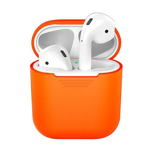 Силиконовый чехол Ultra Slim для AirPods 1/2, оранжевый, Deppa