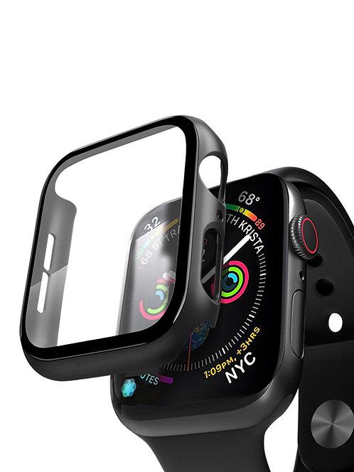 Кейс со стеклом для Apple Watch 4/5 series черный, 44 мм, Deppa